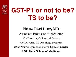 GST-P1 or not to be?  TS to be?