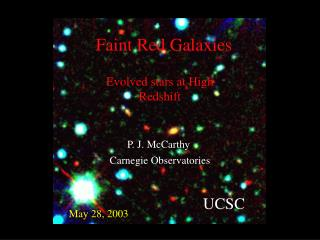 Faint Red Galaxies