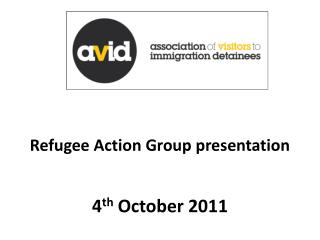 Refugee Action Group presentation