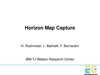 Horizon Map Capture
