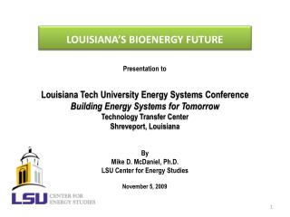 LOUISIANA'S BIOENERGY FUTURE