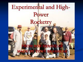 Experimental and High-Power Rocketry