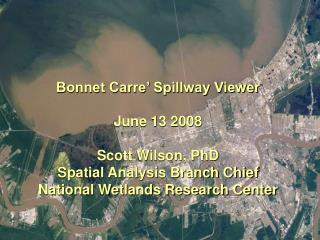 Bonnet Carre' Spillway Viewer
