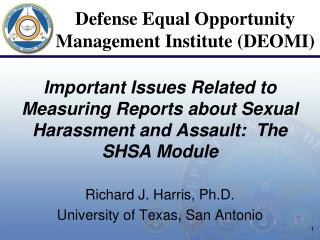 Richard J. Harris, Ph.D. University of Texas, San Antonio