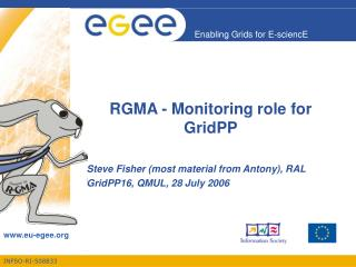 RGMA - Monitoring role for GridPP