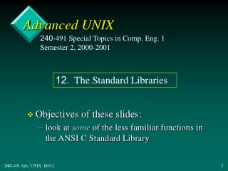 Advanced UNIX