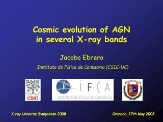 Cosmic evolution of AGN in several X-ray bands