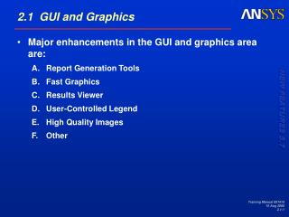 2.1  GUI and Graphics