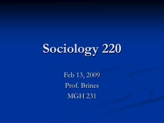 Sociology 220