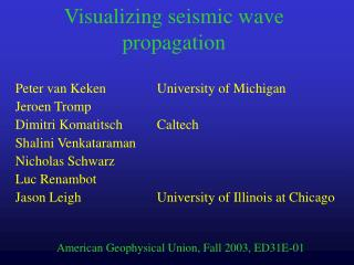 Visualizing seismic wave propagation