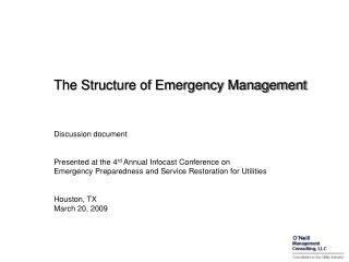 The Structure of Emergency Management