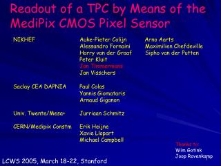 Readout of a TPC by Means of the MediPix CMOS Pixel Sensor