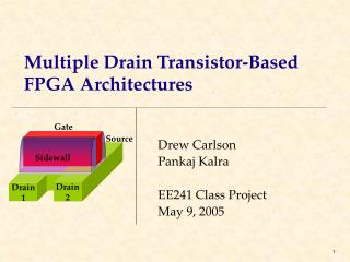 Multiple Drain Transistor-Based FPGA Architectures