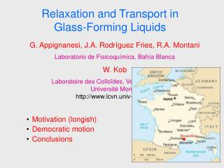 Relaxation and Transport in Glass-Forming Liquids
