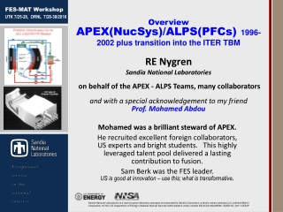 Mohamed was a brilliant steward of APEX.