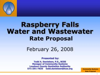 Raspberry Falls  Water and Wastewater Rate Proposal February 26, 2008