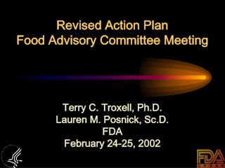 Revised Action Plan  Food Advisory Committee Meeting