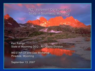NO 2  Increment Consumption Study in Southwest Wyoming