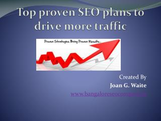 Top Proven SEO plans to Drive More Traffic
