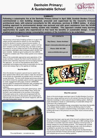 Denholm Primary:  A Sustainable School