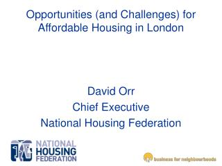 Opportunities (and Challenges) for Affordable Housing in London