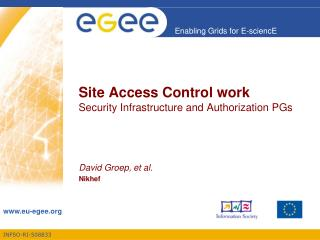 Site Acces s Control work Security Infrastructure and Authorization PGs