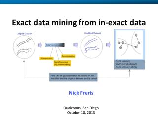 Exact data mining from in-exact data
