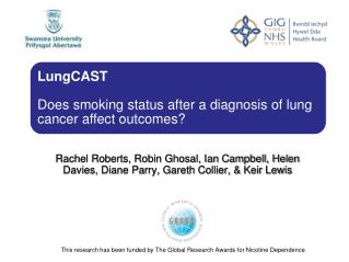 This research has been funded by The Global Research Awards for Nicotine Dependence