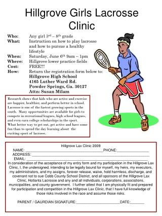 Hillgrove Girls Lacrosse Clinic