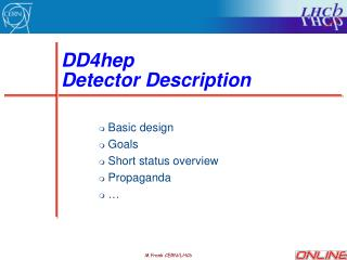 DD4hep  Detector Description