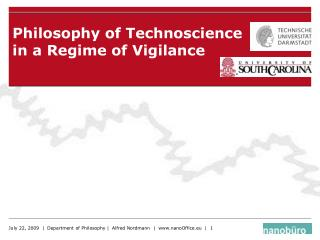 Philosophy of Technoscience in a Regime of Vigilance