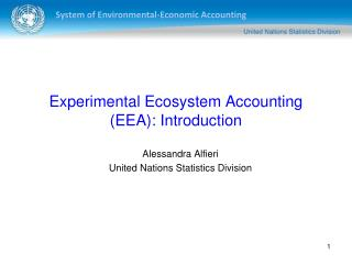 Experimental Ecosystem Accounting (EEA): Introduction