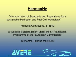 "HarmonHy "" Harmonization of Standards and Regulations for a"