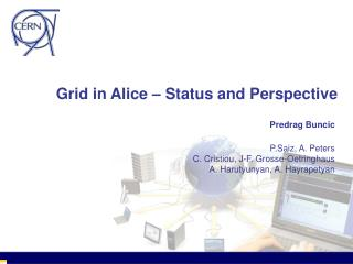 Grid in Alice – Status and Perspective