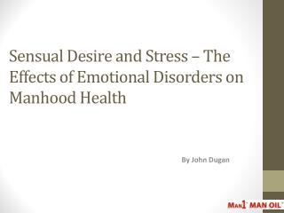 Sensual Desire and Stress The Effects of Emotional Disorders