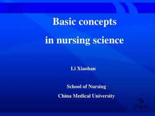 Basic concepts  in nursing science
