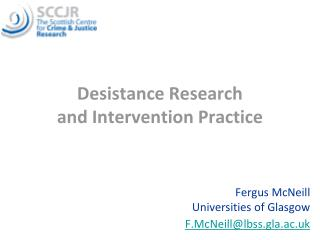 Desistance Research and Intervention Practice