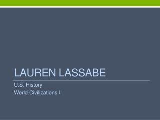 Lauren Lassabe