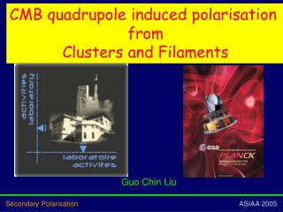 CMB  quadrupole induced  polarisation  from Clusters and Filaments
