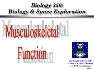 Biology 350:   Biology & Space Exploration