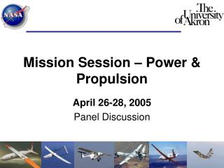 Mission Session – Power & Propulsion