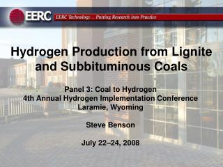 Hydrogen Production from Lignite and Subbituminous Coals