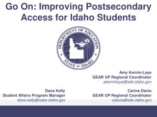 Go On: Improving Postsecondary Access for Idaho Students
