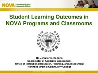 Student Learning Outcomes in NOVA Programs and Classrooms