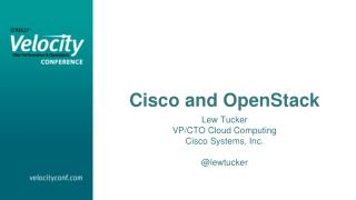 Cisco and  OpenStack