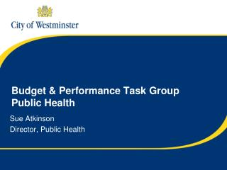 Budget & Performance Task Group Public Health