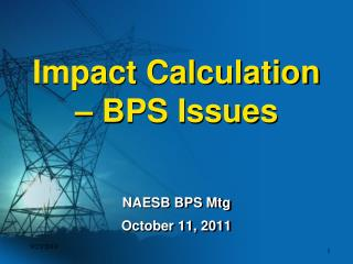Impact Calculation – BPS Issues
