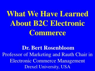 B2C E-commerce in the U.S. will grow to $87 billion by 2003 from $17 billion in 1999