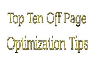 Top Ten OFF Page Optimization Tips