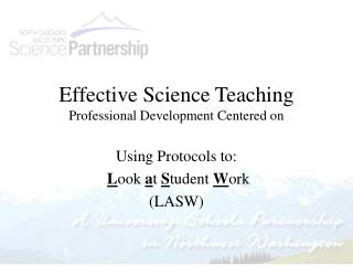 Effective Science Teaching Professional Development Centered on